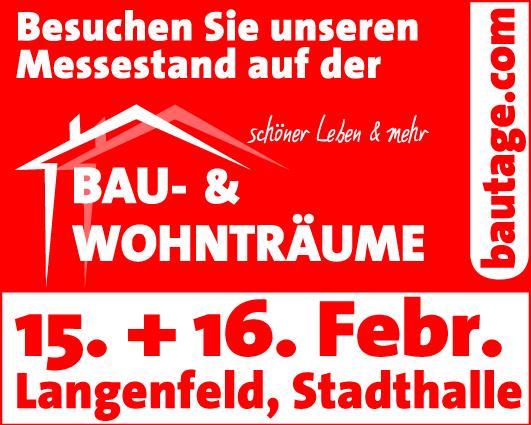 Pott Bauelemente nimmt im Februar an der Langenfelder Baumesse teil